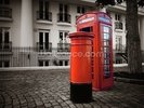 London Post Box wall mural thumbnail