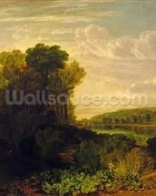 The Thames at Weybridge, c.1807-10 mural wallpaper thumbnail