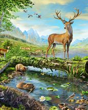 Wildlife Splendor US wallpaper mural thumbnail
