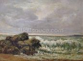 The Wave, 1869 (oil on canvas) wallpaper mural thumbnail