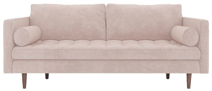 light pink modern sofa