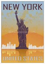 Vintage New York wall mural thumbnail