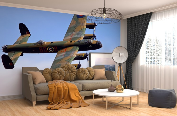 Darren harbar vintage aviation murals wallpapers for Aeroplane wall mural