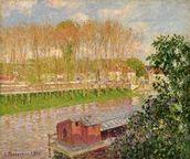 Sunset at Moret-sur-Loing, 1901 (oil on canvas) wallpaper mural thumbnail