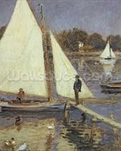 The Seine at Argenteuil, 1874 (oil on canvas) mural wallpaper thumbnail