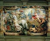 The Triumph of the Church over Fury, Hatred and Discord, before 1628 (oil on canvas) wall mural thumbnail