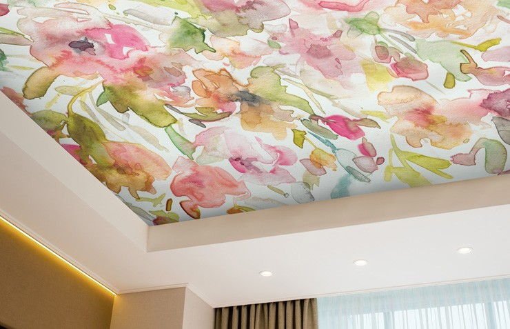 floral-ceiling-wallpaper