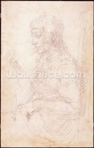 W.40 Sketch of a female figure mural wallpaper thumbnail