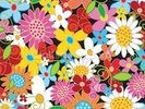 Spring Flower Power wall mural thumbnail