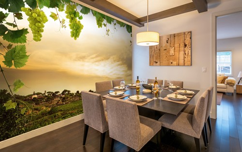Wall mural inspiration for dining rooms wallsauce for Dining room mural wallpaper