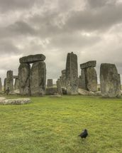 Storms over Stonehenge mural wallpaper thumbnail