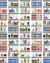 Bookcase - Digital wallpaper mural thumbnail