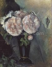 Flowers in a Blue Vase, c.1886 (oil on canvas) wall mural thumbnail
