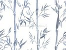 Bamboo Leaves Watercolour wall mural thumbnail