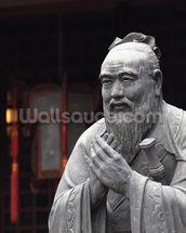 Statue of Confucius wall mural thumbnail