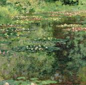 The Waterlily Pond, 1904 (oil on canvas) wall mural thumbnail