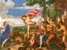 Bacchus and Ariadne, 1520-23 (oil on canvas) (pre-restoration) wall mural thumbnail
