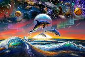 Universal Dolphins wallpaper mural thumbnail