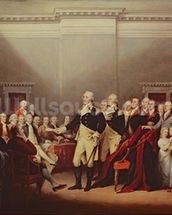 The Resignation of George Washington on 23rd December 1783, c.1822 (oil on canvas) wallpaper mural thumbnail