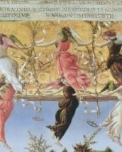 Mystic Nativity (oil on canvas) (detail of 22825) mural wallpaper thumbnail