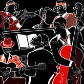 Jazz Band mural wallpaper thumbnail