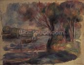 The Seine at Argenteuil, 1892 mural wallpaper thumbnail