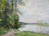 The Riverside Road from Veneux to Thomery, 1880 wall mural thumbnail