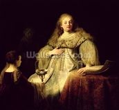 Artemisia, 1634 (oil on canvas) wall mural thumbnail