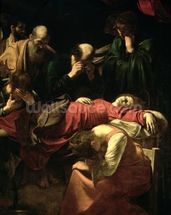 The Death of the Virgin, 1605-06 (oil on canvas) (detail of 3678) mural wallpaper thumbnail