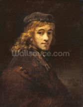 Titus, the Artists son, c.1662 (oil on canvas) wallpaper mural thumbnail