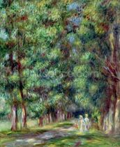 Path in a Wood, 1910 (oil on canvas) wall mural thumbnail