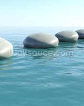 Zen Rock Pool wall mural thumbnail