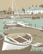 Southwold Harbour 1 wall mural thumbnail