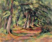 Sous-bois (pres du Jas de Bouffan) 1890-94 (oil on canvas) mural wallpaper thumbnail