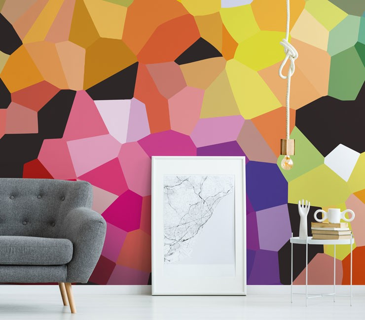 abstract rainbow wallpaper with frame