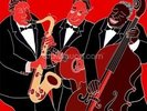 Jazz Band Trio wall mural thumbnail