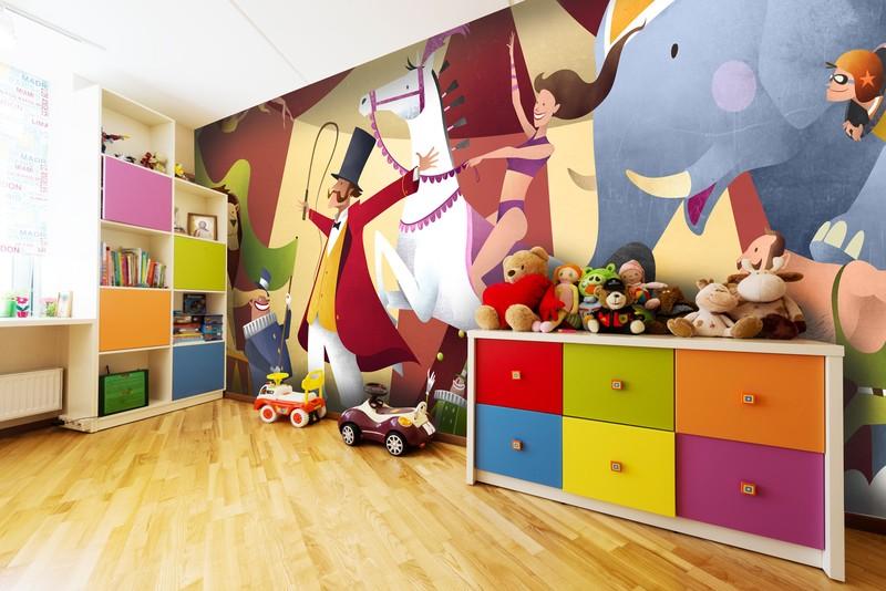Mark bird wall murals murals for children 39 s rooms for Circus wall mural