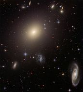 Hubble Illuminates Cluster of Diverse Galaxies mural wallpaper thumbnail