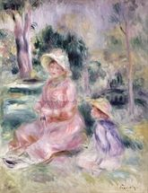 Madame Renoir and her son Pierre, 1890 wallpaper mural thumbnail