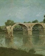 The Bridge at Ambrussum (oil on canvas) wall mural thumbnail