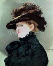 Portrait of Mery Laurent (1849-1900) 1882 (pastel on paper) wall mural thumbnail