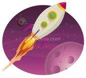 Rocket Ship mural wallpaper thumbnail