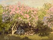 Lilac in the Sun, 1873 (oil on canvas) wall mural thumbnail
