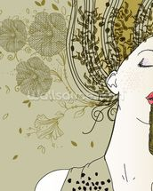 Female Jazz Singer wallpaper mural thumbnail