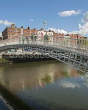 Hapenny Bridge in Dublin mural wallpaper thumbnail