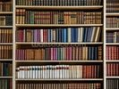 Old Books Bookcase wall mural thumbnail