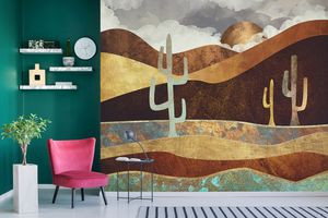 NEW Abstract Landscape Murals by SpaceFrog Designs