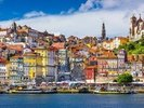 Colourful Historic Porto wall mural thumbnail