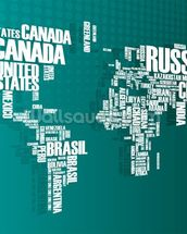 Turquoise Word Cloud Map mural wallpaper thumbnail