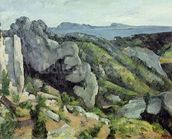 Rocks at LEstaque, 1879-82 (oil on canvas) wallpaper mural thumbnail